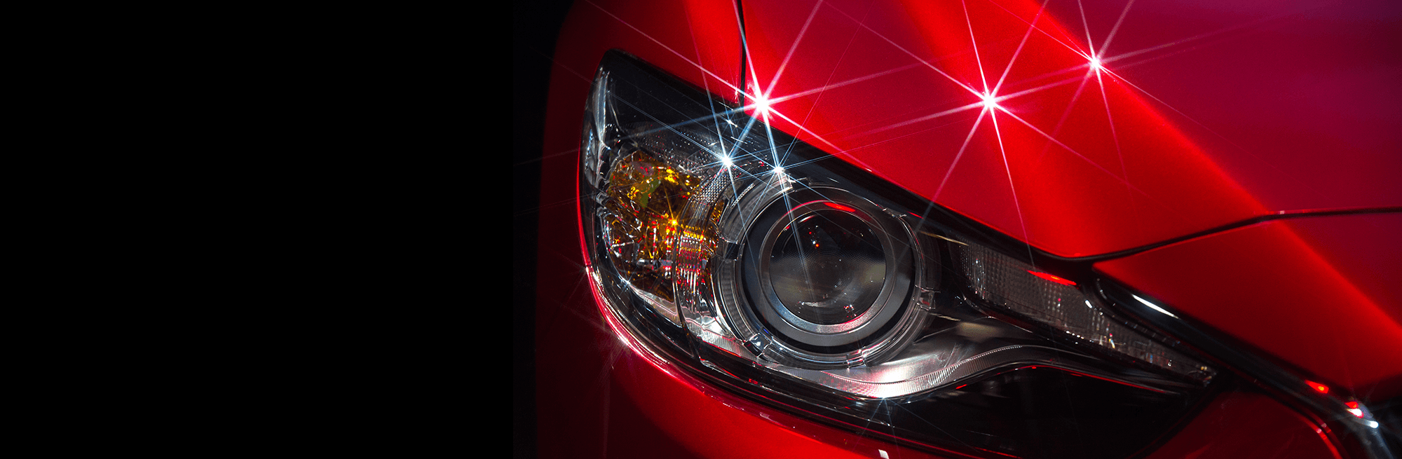 A red car's headlight.
