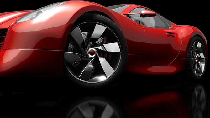 A red concept car.